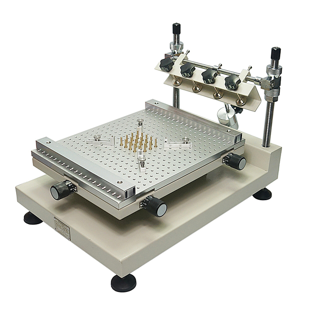 Solder Paste Printer Silkscreen Printing Machine ZB3040H Single Double sided Circuit Board Paste