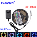 5 Meters 270Leds RGB Led Strip Light Waterproof 3014 SMD 54Leds/M+10/24/44 Keys IR Remote Control+12V 2A Power Supply Adapter
