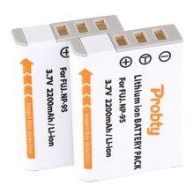 PROBTY 2pcs NP 95 FNP95 Camera replacement Li Ion Battery for FUJIFILM F30 F31 F30fd F31fd 3D W1 X100T X100S X100 X S1 3DW1 XS1