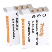 PROBTY Batería de ion de litio de repuesto para cámara FUJIFILM F30, F31, F30fd, F31fd, 3D, W1, X100T, X100S, X100, NP 95, 3DW1, XS1, 2 uds.