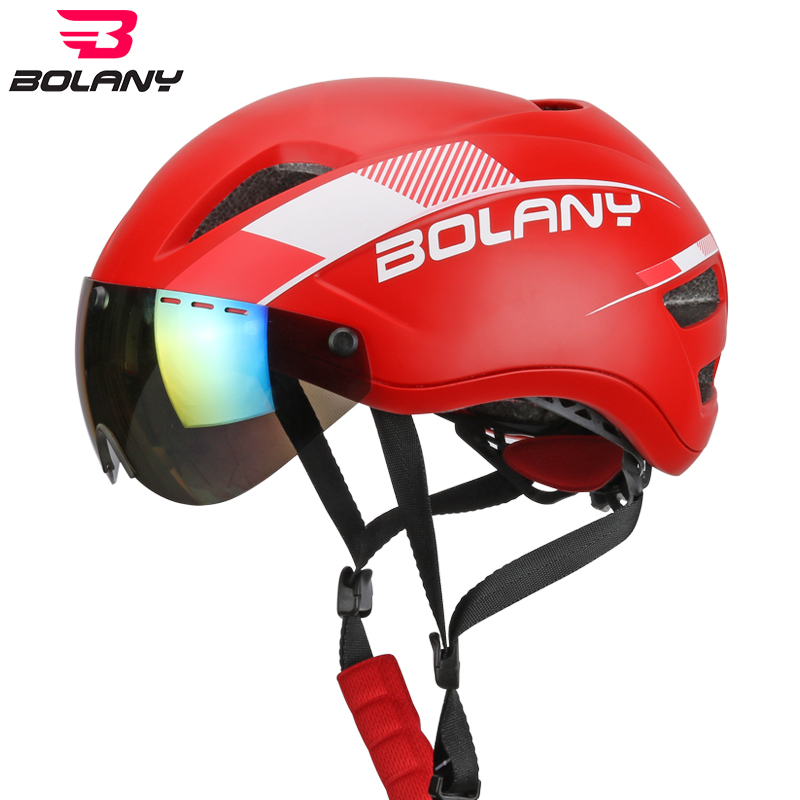 Bolany Cycling Helmet With Ultralight Windproof Magnetic Glasses Insect Net Integrally molded MTB Double layered Bicycle