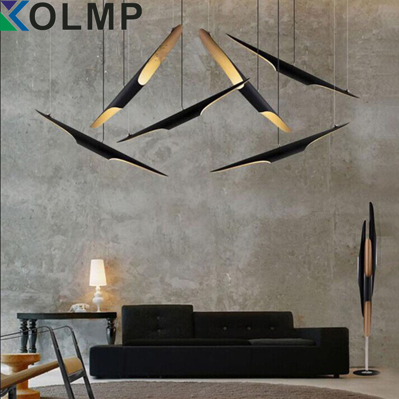 Replica Delightfull Coltrane modern creative oblique pendant Lamp e27x2 aluminum black Gold color fashion restaurant lighting