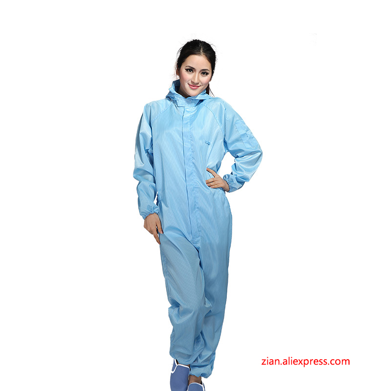 Anti-static Clothing Clean Hooded Dust-proof Clothes Spray Paint Overalls Protective Clothing Clean Clothes Electrostatic