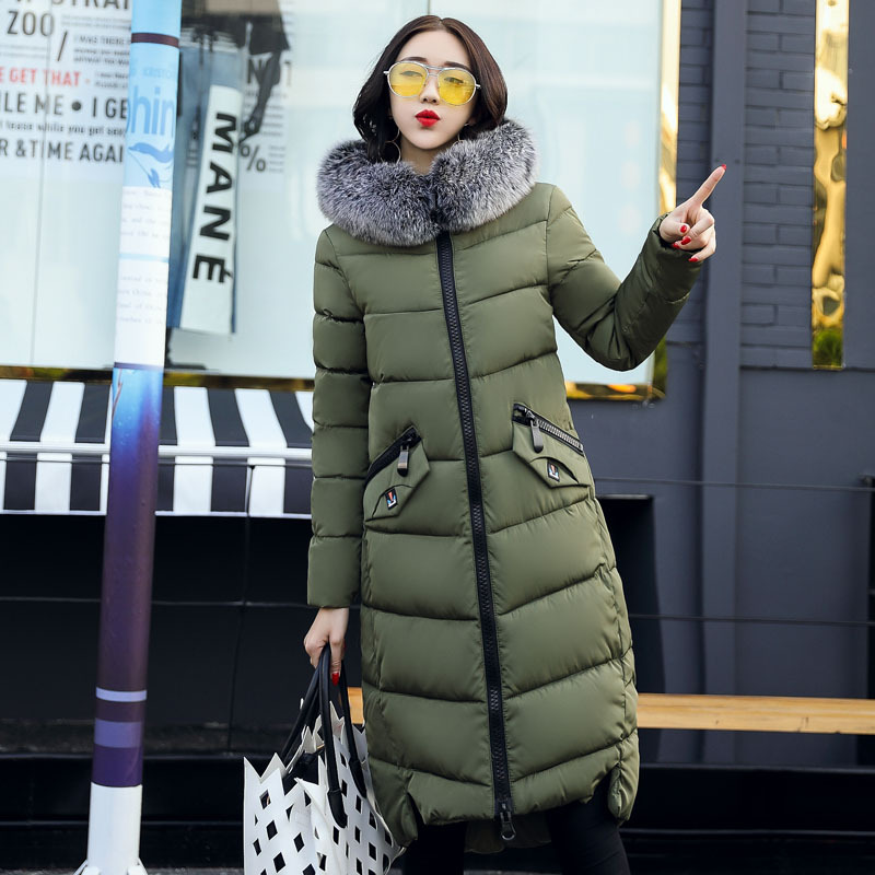 2017 Jacket Women Plus Size Winter Parka Jakcet Female Thick Long Coat Cotton-Padded Casual Warm Outwear women s winter coat new parkas female thick padded cotton long outwear plus size parka casual jacket coat women c1251