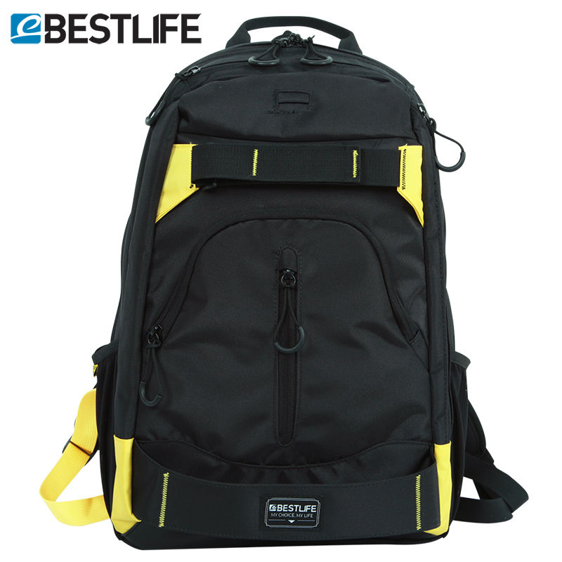 BESTLIFE Skateboard Backpack Mochila Escolar Skate Rucksack Mens Women Travel Canvas Backpack Carry Bag Computer Laptop Bags