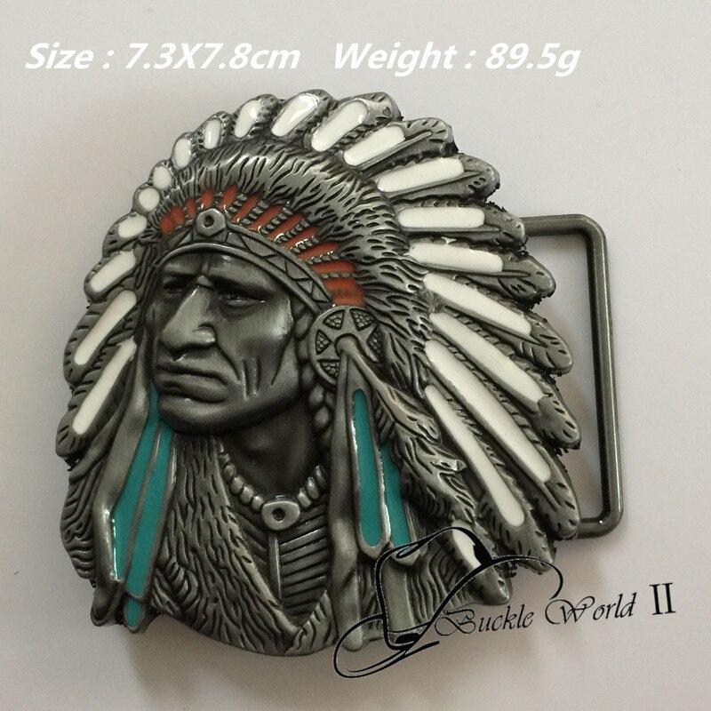1d83d627e577 Nuevo estilo al por menor fresco 3D hebillas de correa del Vaquero de los  indios 73 78mm 89.5G metal para 4 cm ancho correa occidental hombres  mujeres ...