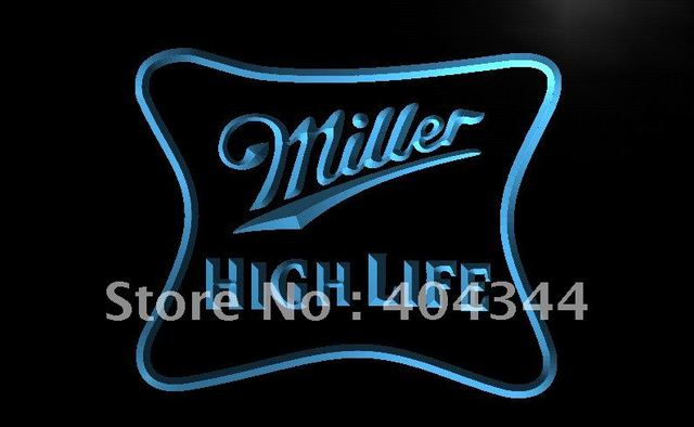 Le077 miller high life beer ad bar pub led neon light sign home le077 miller high life beer ad bar pub led neon light sign home decor shop aloadofball Images