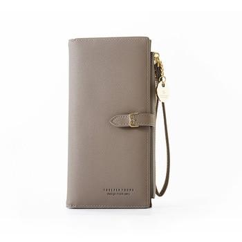 Wristband Women Long Wallet Many Departments Female Wallets Clutch Lady Purse Zipper Phone Pocket Card Holder Ladies Carteras 7