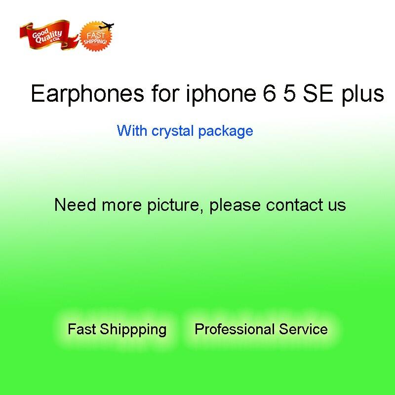 imágenes para Auriculares auriculares auriculares de alta calidad tienen micrófono y control remoto para i6 SE 5 5S 6 S plus con caja de cristal