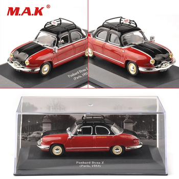Cheap Collectible Kids Toys 1:43 Red IXO Panhard Dyna Z Paris 1953 Classic Taxi Diecast Car Model Gift Toys for Children Gift image