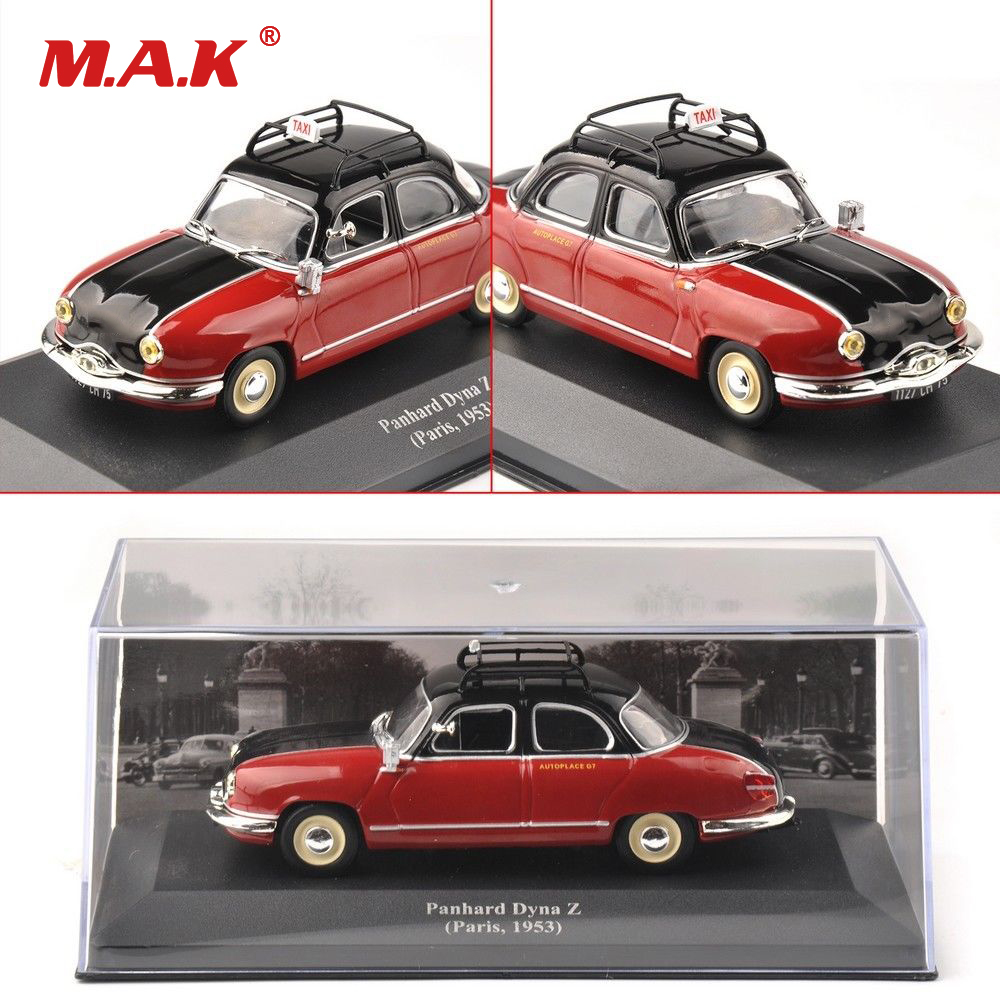 Cheap Collectible Kids Toys <font><b>1:43</b></font> Red <font><b>IXO</b></font> Panhard Dyna Z Paris 1953 Classic Taxi Diecast Car Model Gift Toys for Children Gift image