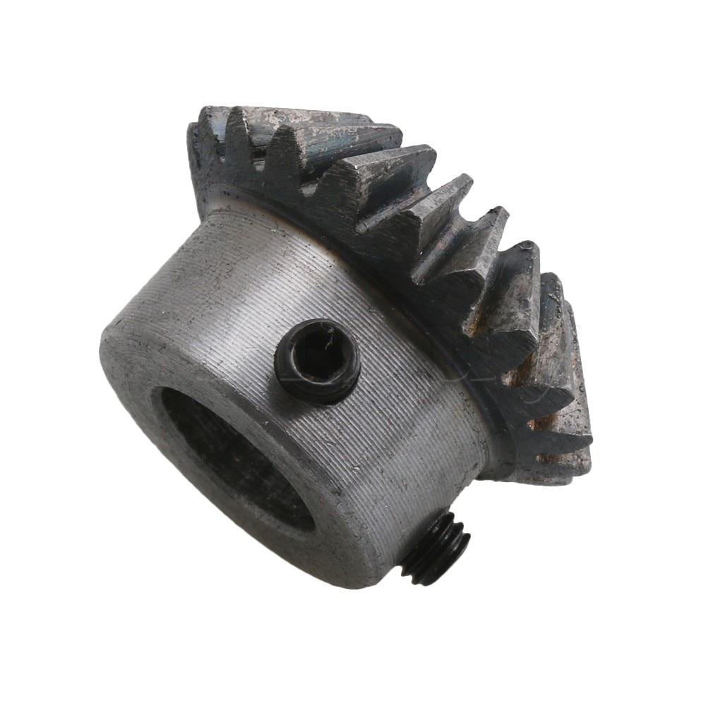 2pcs 12mm Hole Dia 45# Steel Tapered Bevel Gears 1.5 Module 16 Teeth 90 degrees