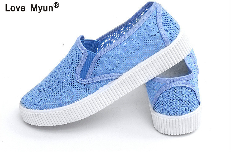 2018 Summer Women Flat Platform Shoes Woman Comfortable Breathable Sweet Flats Women's Casual Mesh Lace Pattern Shoes 66 instantarts fashion women flats cute cartoon dental equipment pattern pink sneakers woman breathable comfortable mesh flat shoes