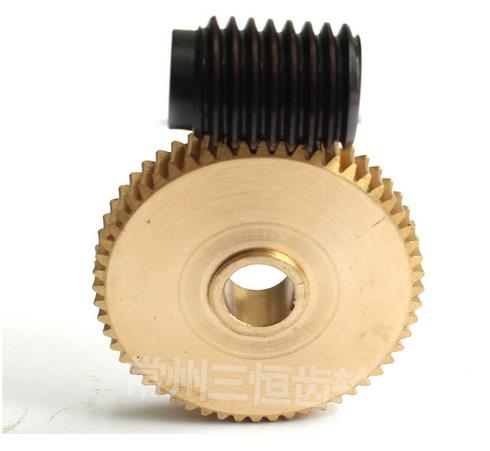 Diameter:47mm Inner hole:10mm 0.8M 56Teeths Speed ratio 1:56 Worm gearDiameter:47mm Inner hole:10mm 0.8M 56Teeths Speed ratio 1:56 Worm gear