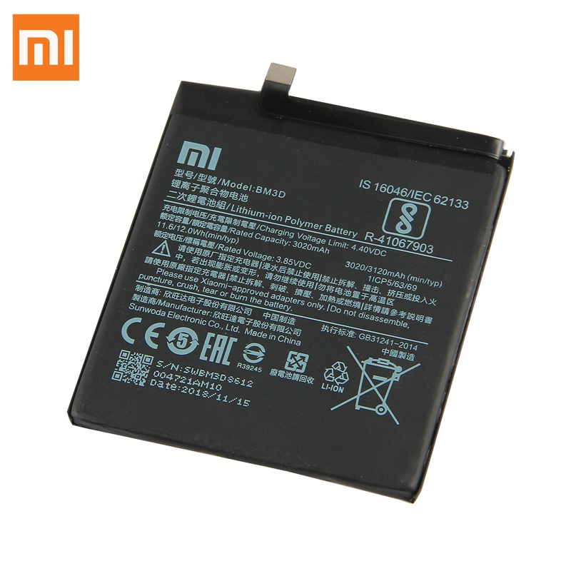 Original XIAOMI Replacement Battery BM3D For Xiaomi 8 SE MI8 SE M8 SE 100 New Authentic Phone Battery 3120mAh in Mobile Phone Batteries from Cellphones Telecommunications