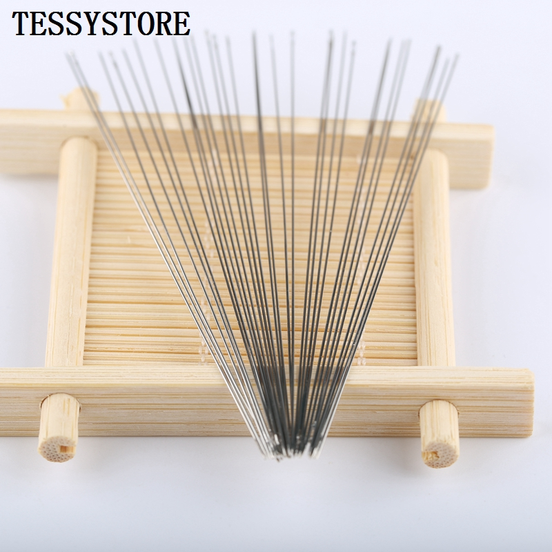 50pcs Various Lengths Of Elongated Metal Beading Needles For Jewelry Making Tools Threading Cord Tool