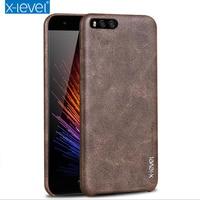 Xiaomi MI6 MI6 Plus PU Leather Phone Case Original X Level Vintage Ultra Thin Protective Leather
