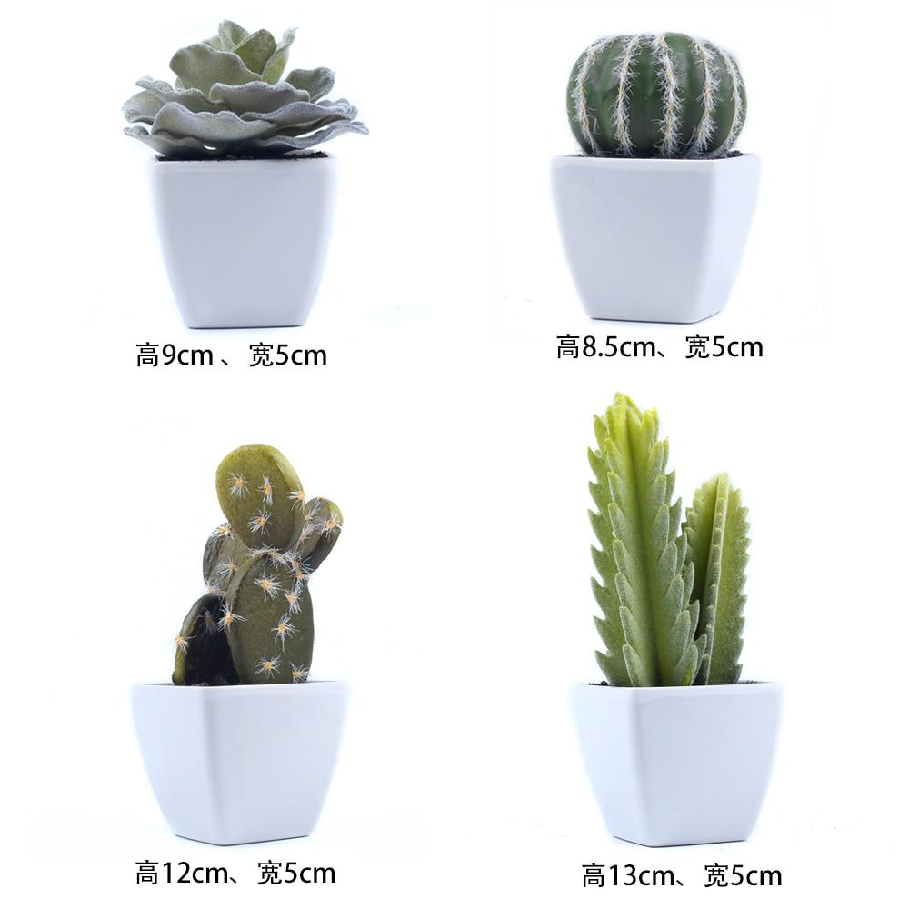 1 Unidades Mini Suculentas En Macetas Cactus Bonsai Flor Artificial - Para fiestas y celebraciones - foto 5