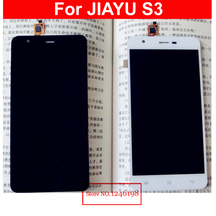 High Quality Full NEW LCD Display + Touch Screen Digitizer Assembly For JIAYU S3 Replacement Parts Black White Free shipping high quality full new lcd display touch