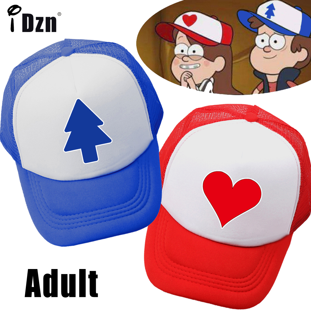 Summer Unisex Men Women Gravity Falls Dipper Pines Pine Tree Baseball Caps Mabel Pines Cosplay Mesh Caps Adjustable Sport Hat gravity falls dipper s and mabel s guide to mystery and nonstop fun