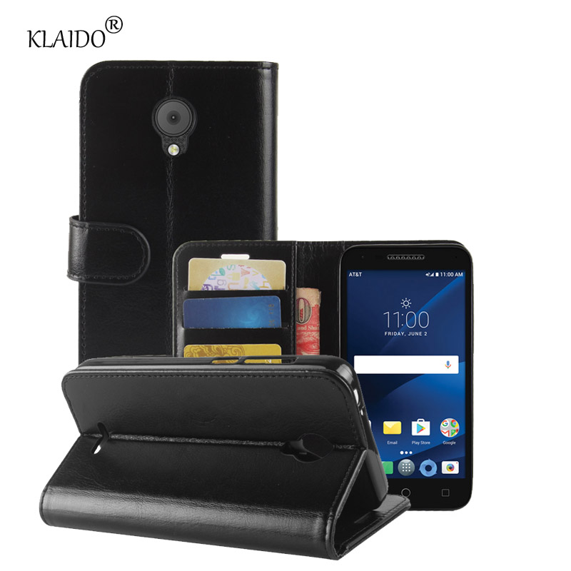 Phone Leather Cases For Alcatel Verso Cameox 5044R Cover Wallet Case With Stand Mobile Phone Accessories Parts Klaido
