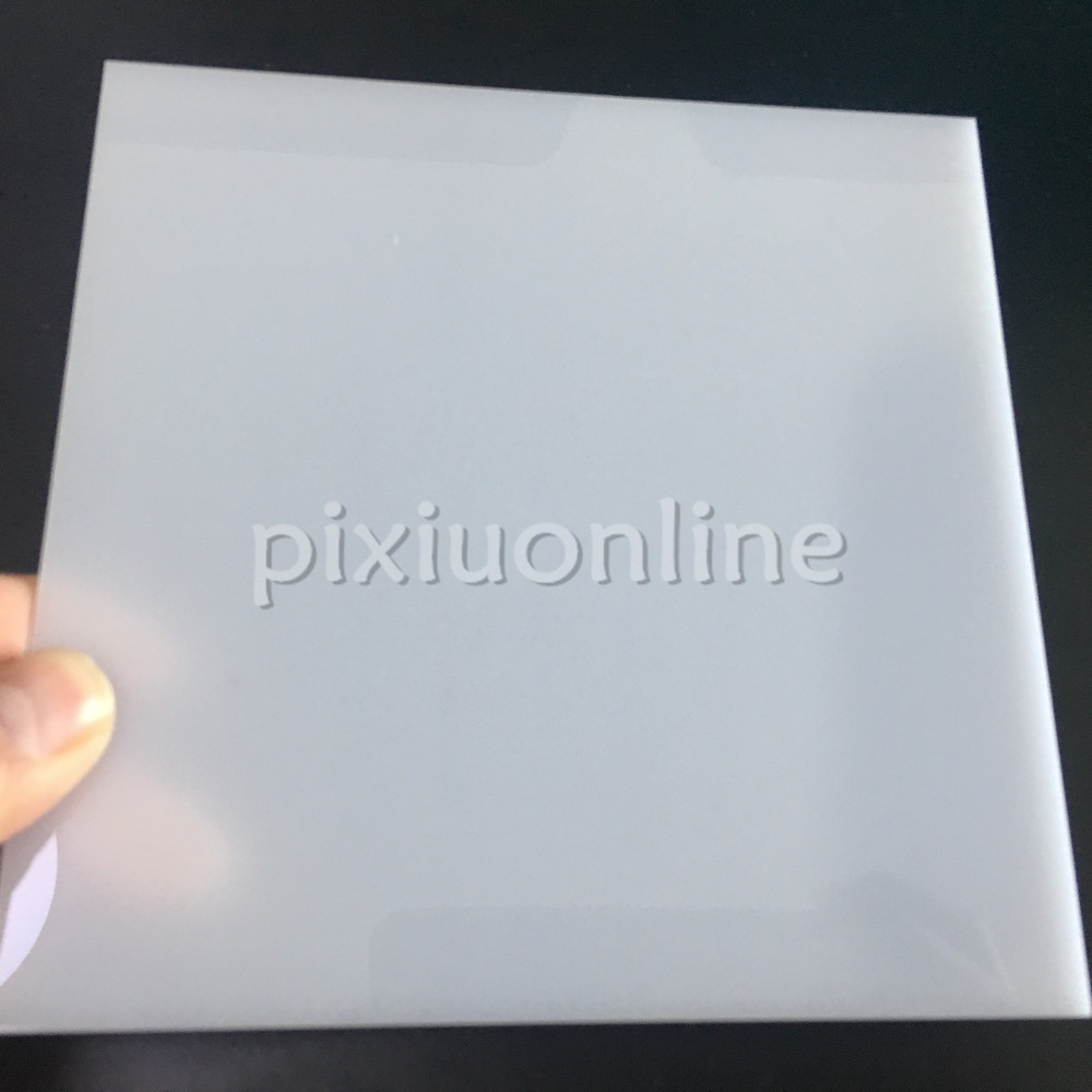 1pc J593b White Color Opaque Acrylic Board Non-transparent Plastic Sheets 15*15cm Thickness 2.3mm DIY Material Free Shipping RU