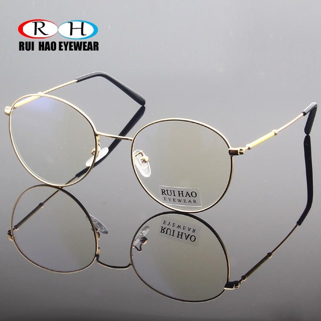 a00ab2c4b2c3a8 Rui Hao Eyewear Retro Popular Eyeglasses Frame Round Glasses Frames Men  Fashion Optical Prescription Spectacles Women