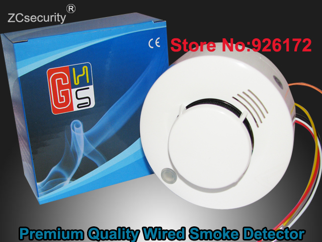 Best Selling Photoelectric Wired Smoke Detector Sensor Fire Alarm For Security Auto Dial Alarm System