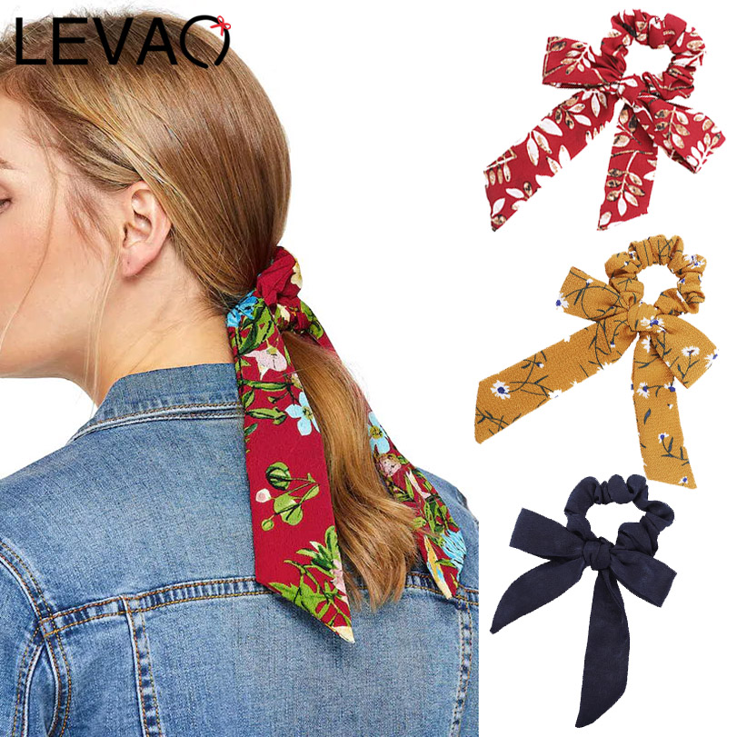 LEVAO 2019 New Fashion Elastic Scrunchie Hair Bands Solid Color Hair Rings Knotting Hair Accessories Daily   Headwear   Hair Ribbon