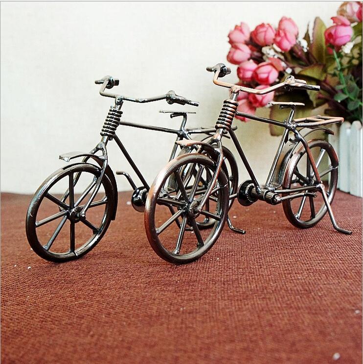 חדש רטרו אופניים דגם מתכת קישוטים כלי שיט אופניים צלמית לחבר Best מתנות אופניים דגם הבית קישוט