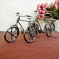 New Retro Bike Model Metal Ornaments Craft Bicycle Figurine For Friend Best Gifts Bicycle Model Home Decoration