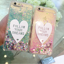 Luxury Cases For Samsung S6 S7 Edge S8 S9 Plus Note 8 9 Back Cover Glitter Quicksand Soft TPU+PC DIY Love Heart Phone Case Coque