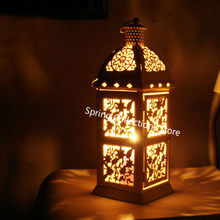 32.5*11.5cm Metal European Wall Hanging Votive Candle Holder Wedding Candlestick Hanging Lantern Home Wedding Decorative Candle(China)