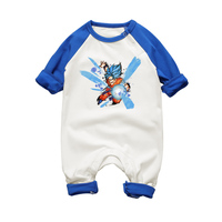 2017 New Newborn Boys Clothes Raglan Style Long Sleeve Rompers Dragon Ball Printed Baby Jumpsuits Cotton