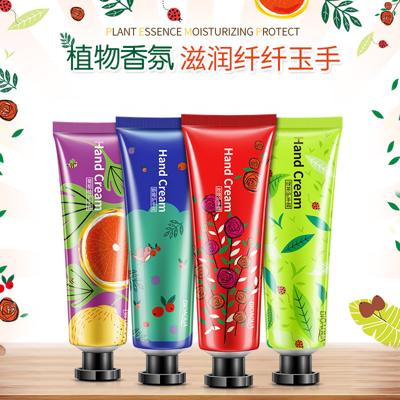 Moisture Nourishing Anti Chapping Oil Control 30g Cute Women Girl's Hand Cream Care Lotion Fruit Nourish Hand Cream TSLM1