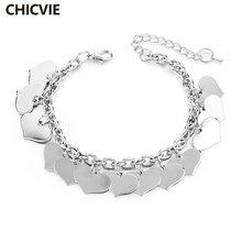 Chicvie хит продаж золотая цепочка с сердцем регулируемые браслеты