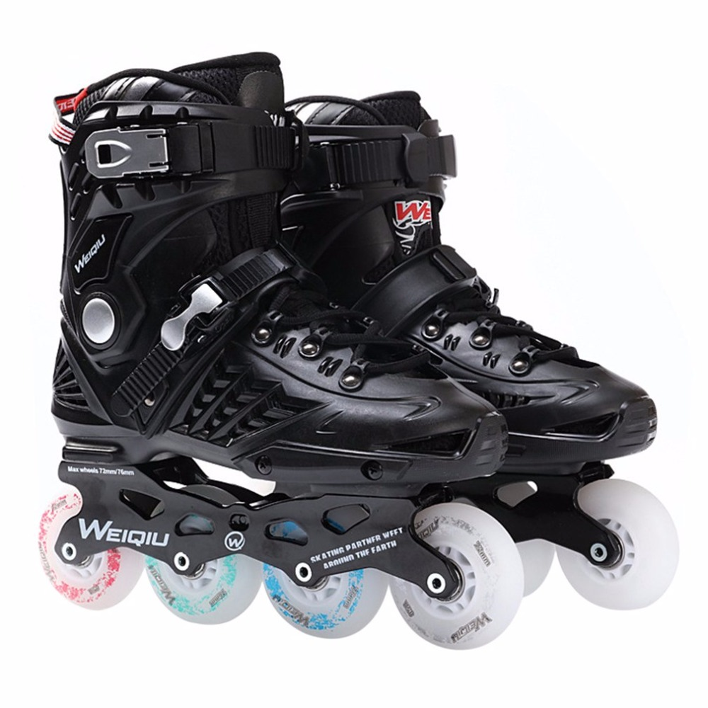1 Pair Skates 8 Wheels Full Flash LED Wheel Skates Fancy Straight Adult Roller Skates Professional Men And Women Skates Shoes цена 2017