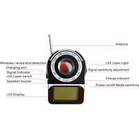 New Arrive CC309 1 6 LCD Surveillance Anti Bug Anti Spy Laser Wireless Signal Full Band