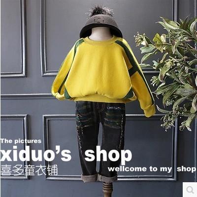 2016 otoño e invierno nuevas niñas super brillante tejer costura hombro ancho sweatershirt envío gratis