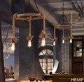 Лофт стиль креативный пеньковый Канат Droplight Эдисон винтажный подвесной светильник для помещений освещение для столовой подвесной светильн...
