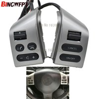 NEW Steering wheel control buttons with blacklight Silver Buttons FOR Nissan LIVINA TIIDA SYLPHY Car accessories