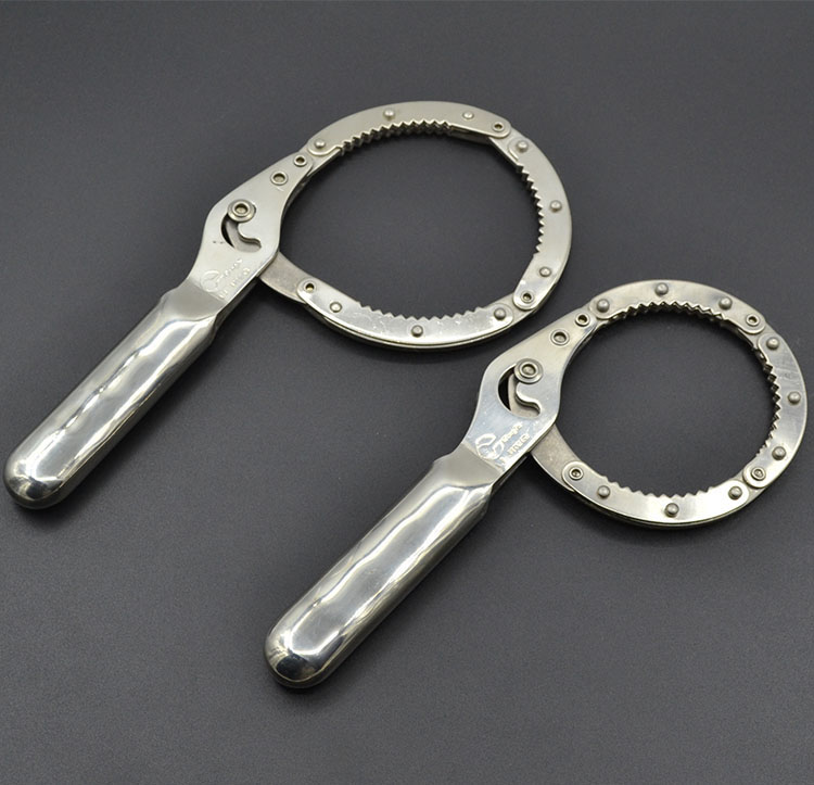 Stainless Steel Adjustable Oil Filter Wrench