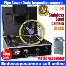 40M waterproof video pipe inspection camera with meter accounter