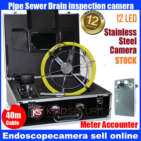 40M waterproof video pipe inspection camera with meter accounter40M waterproof video pipe inspection camera with meter accounter