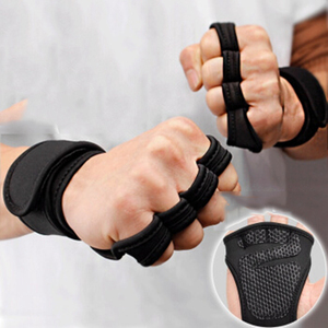 New 1 Pair Weight Lifting Training Gloves Women Men Fitness Sports Body Building Gymnastics Grips Gym Hand Palm Protector Gloves(China)