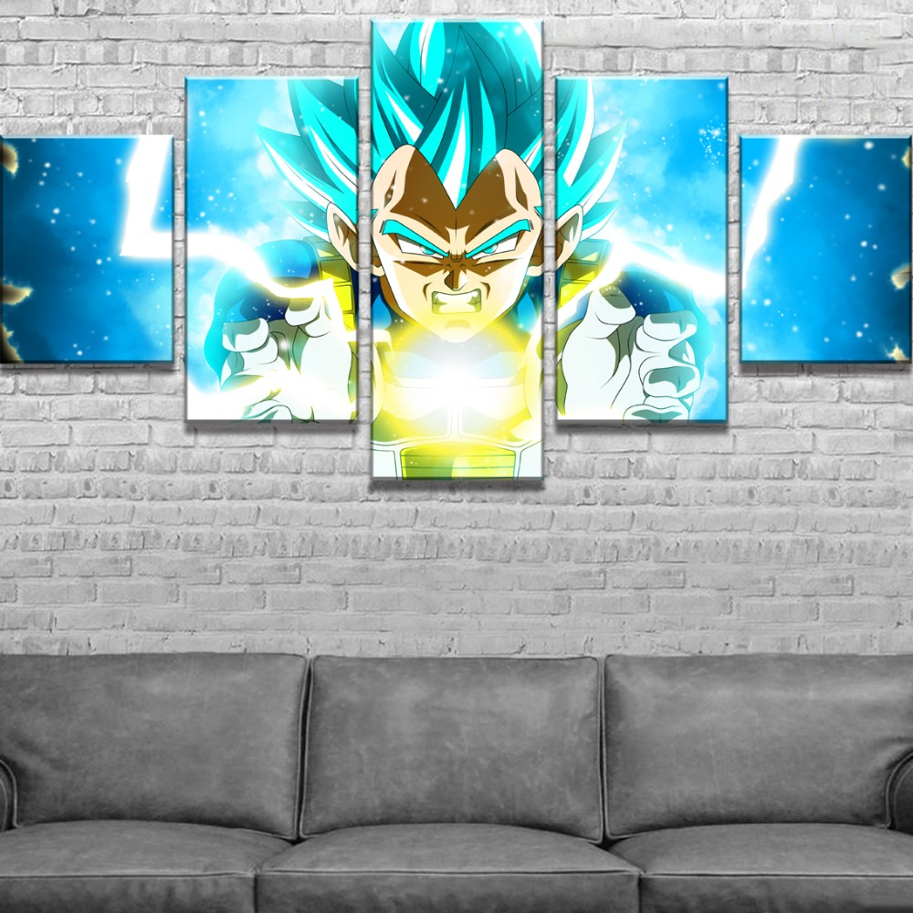 5 Piece Dragon Ball Super Vegeta Anime Poster Modern Decorative Paintings on Canvas Wall Art for Home Decorations Wall Decor in Painting Calligraphy from Home Garden