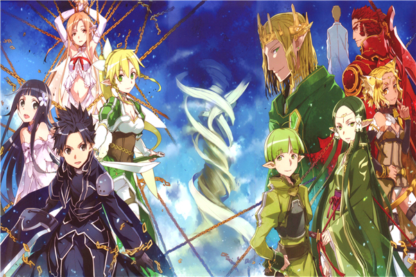 Custom Canvas Art Sword Art Poster Sword Art Online Game Wall Stickers SAO Mural Anime Wallpaper Christmas Bedroom Decor #393#