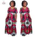 2017 Лето Традиционных Африканских Одежды Для Женщин Базен Riche Причинные Длинные Плюс Размер Dress Африканских Воск Печати Платья WY255