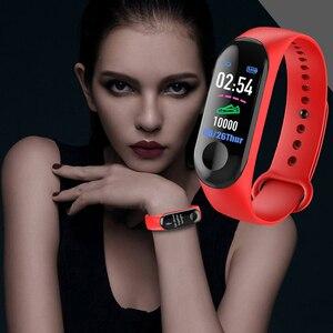 Image 2 - M3 חכם שעון צמיד גברים נשים דם לחץ הדופקת עמיד למים כושר גשש חכם להקת בחדות גבוהה צבע