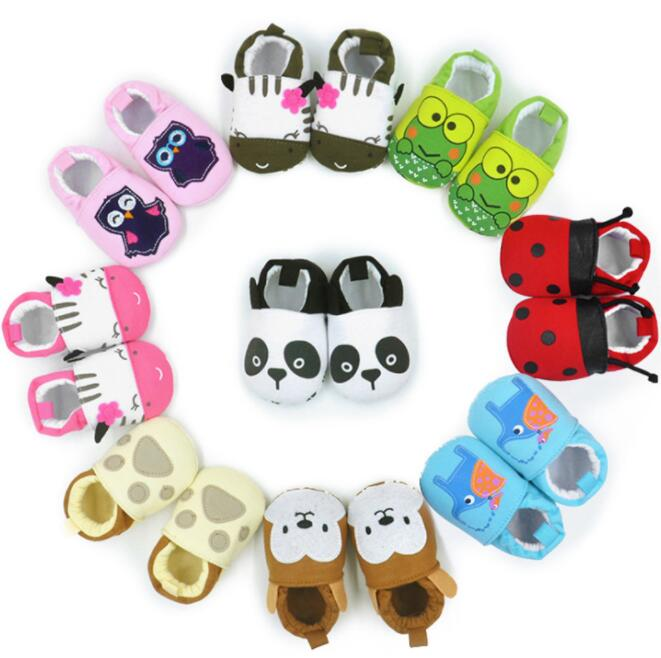 2017 Lovely Cotton Newborn Baby Shoes Cute Infant Girls Boys First Walkers Flats Soft Shoes Toddler Crib Shoes For 0-12M Baby